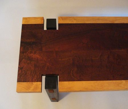 Custom Made Long Coffe Table - Sapele And Beech