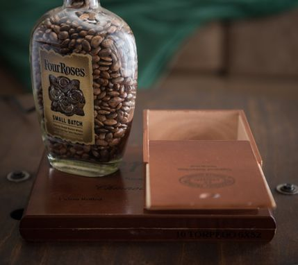 Custom Made Whiskey Bottle Cigar Box Lamp // Four Roses // Unique Gift