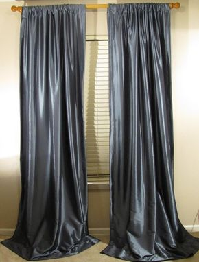 Custom Made Faux Silk Drapes