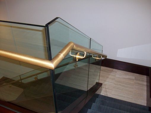 Custom Made Bronze And Glass Handrailing
