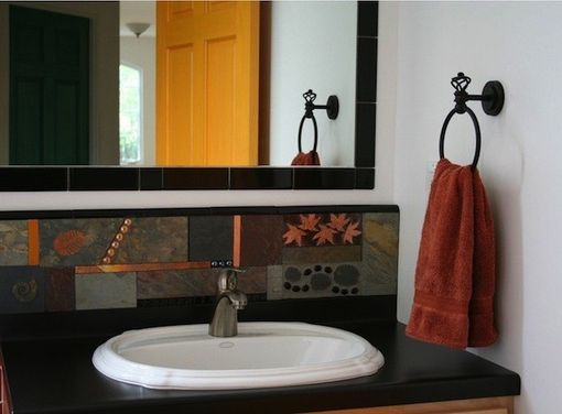 Custom Made Mosaic Bathroom Features
