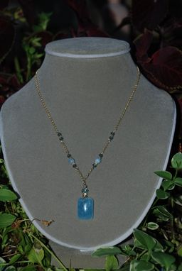 Custom Made Aquamarine Solid Gold Necklace