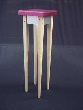 Custom Made Orchid Table - Plant Stand Sculpture Display By Studio 1212 ---- Purple Heart Top