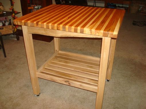Custom Made Butcher Block Top/Kitchen Island