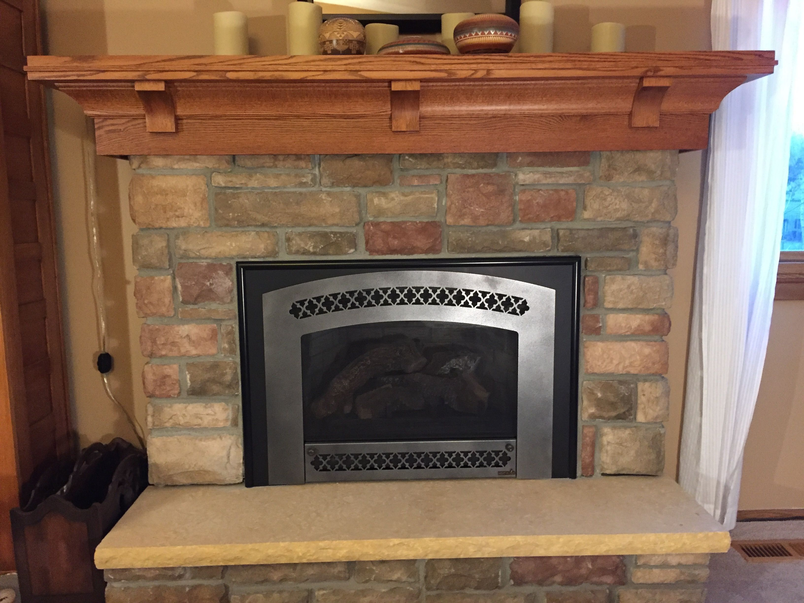 Hand crafted custom quarter sawn red oak mantel craftsman for Wood fireplace surround designs