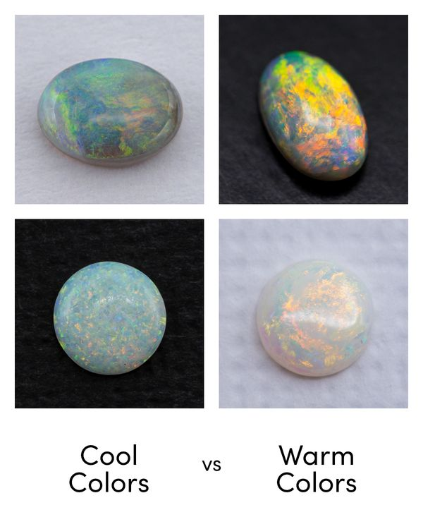 Do you like opals with cooler blues and greens or warmer reds, oranges, and yellows?