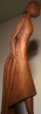 Custom Made Cara's Wood Sculpture
