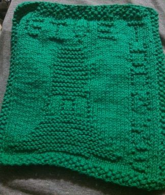 "Custom Made Green Knitted ""Give Thanks"" Cotton Cloth For Bathroom, Kitchen, And More"
