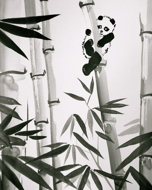 Custom Made Sumi-E Ink Painting, Zen Style, Home Decor And Stationary