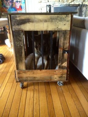 Custom Made Dog Crates That Can Also Be A Bench, End Table Or Coffee Table