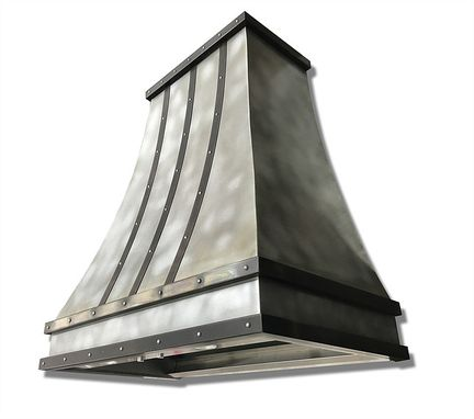 Custom Made #72 Hand Crafted Mottled Zinc Range Hood