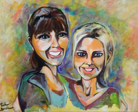 Custom Made Friendship Portrait For Laurie And Jill