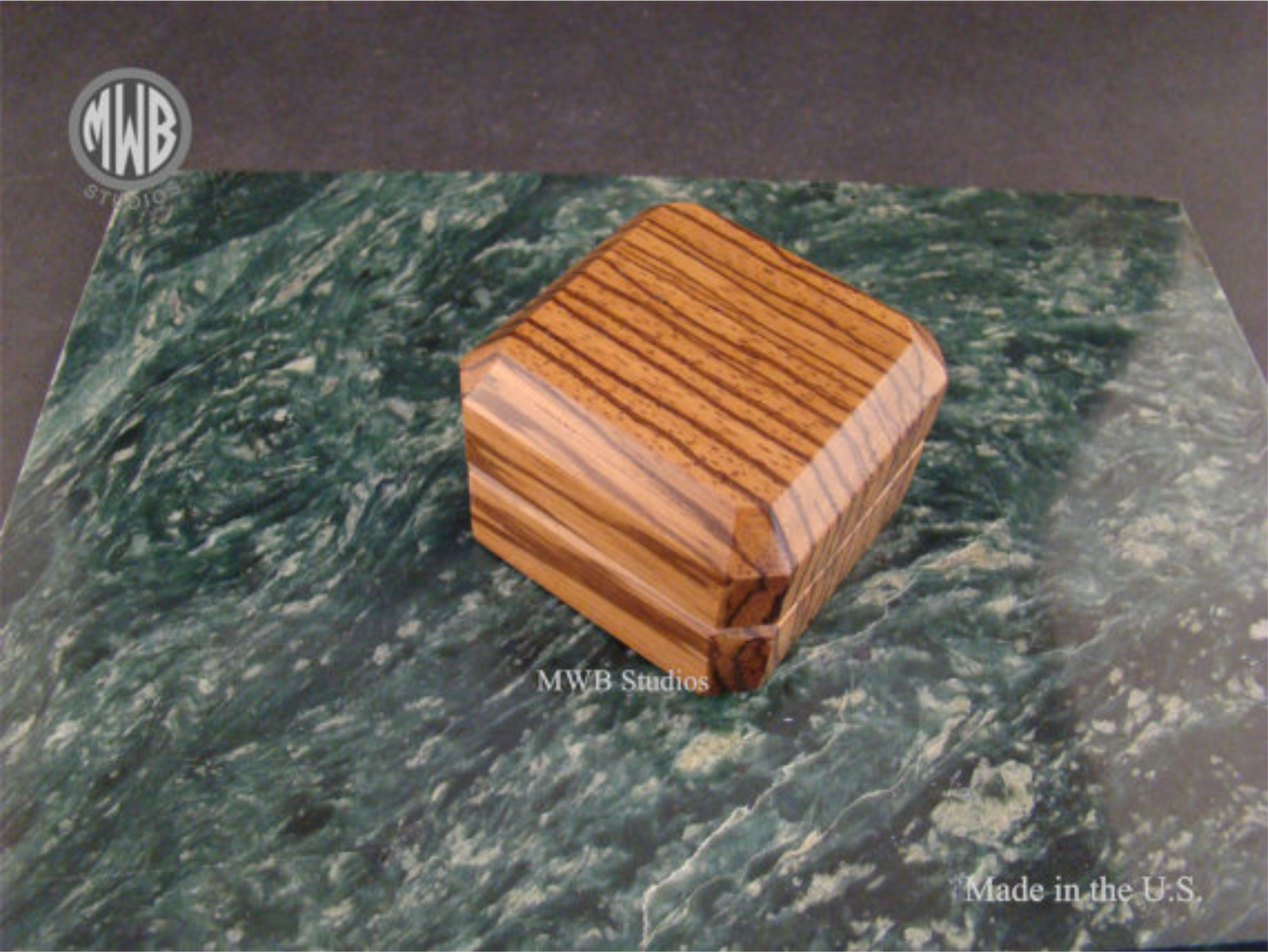 Buy a hand crafted zebra wood engagement ring box with for Wooden ring box