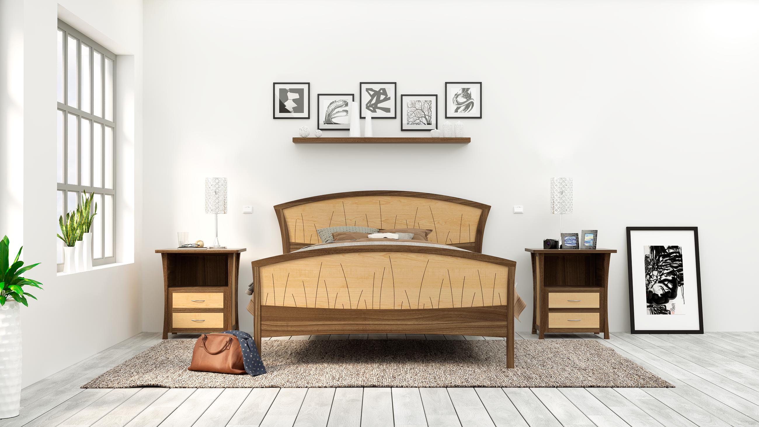 Handmade Bed Frame King Size Headboard Platform Bed