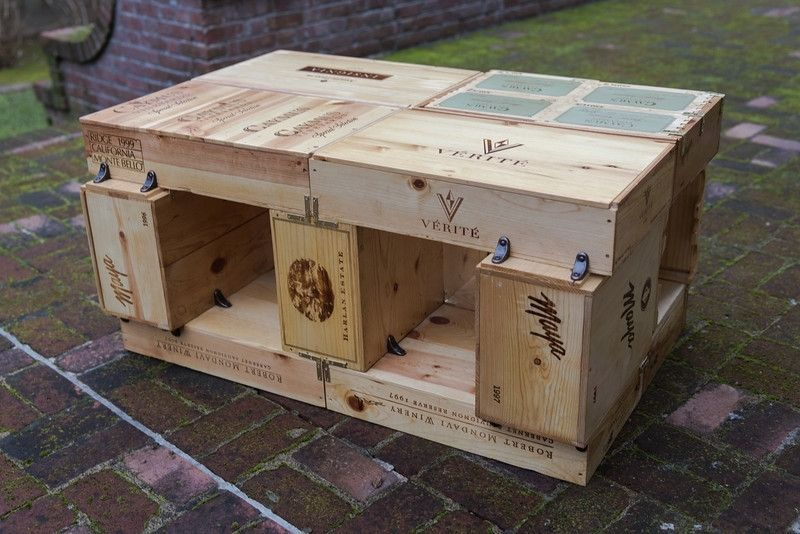 Hand crafted wine box coffee table by the woodenthusiast for Coffee table made out of wine crates