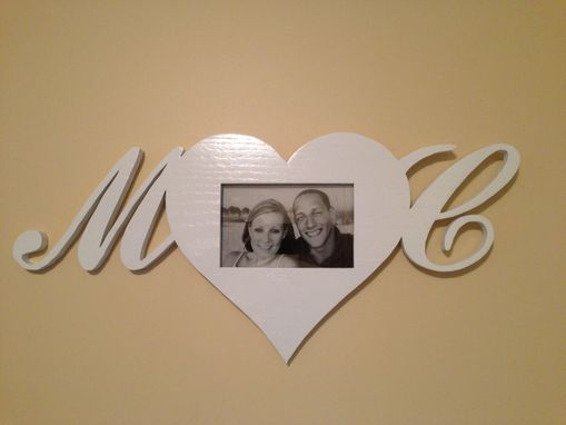Custom Made Heart Initials Picture Frame