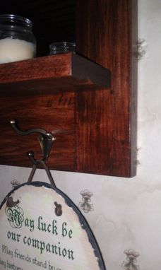 Custom Made Large Entry Mirror With Key Hooks And Shelf