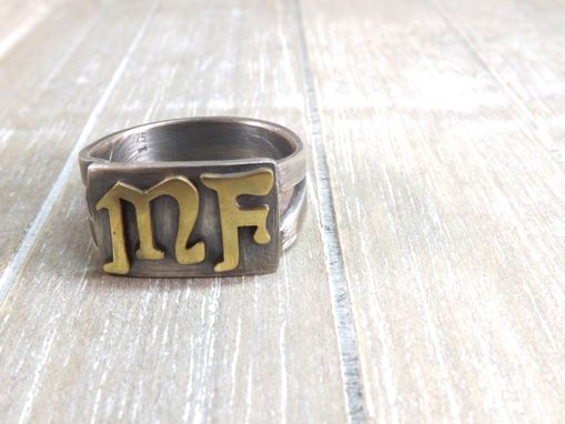 Buy A Hand Crafted Mens Signet Ring Mens Initial Ring