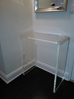 Custom Made Acrylic Lucite Waterfall Table