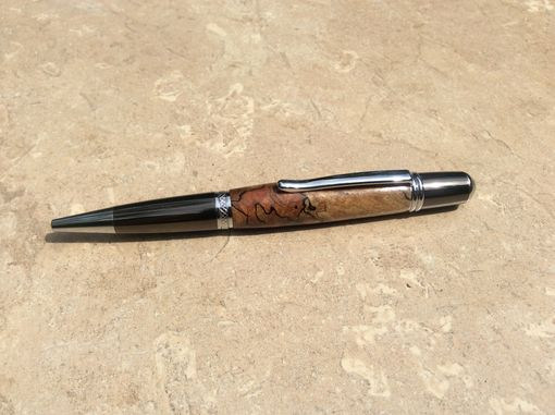 Custom Made Gun Metal And Chrome Classica With Spalted Maple Burl