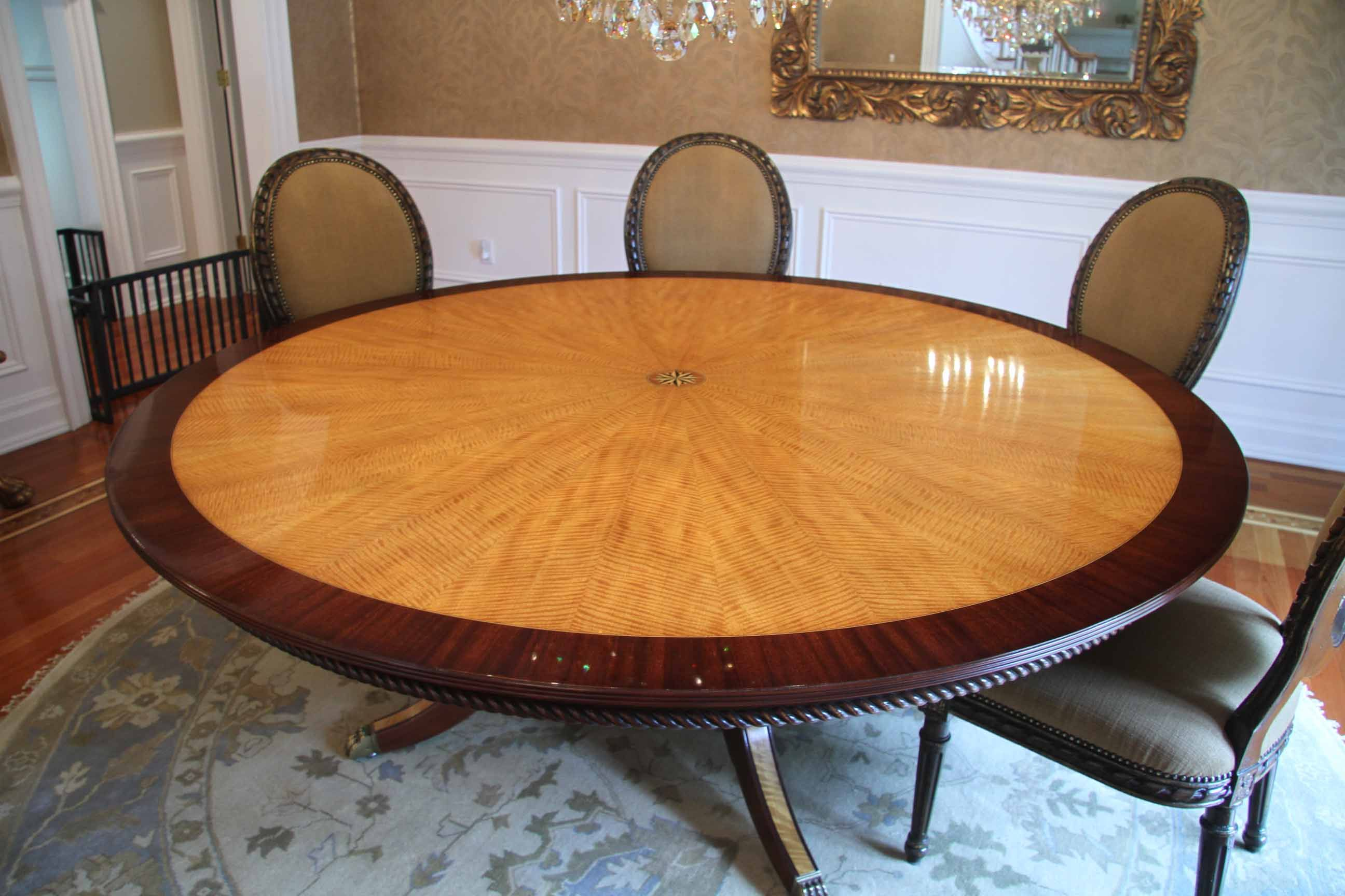 Buy A Hand Made American Made Satinwood And Mahogany Inch Round - 84 inch dining room table