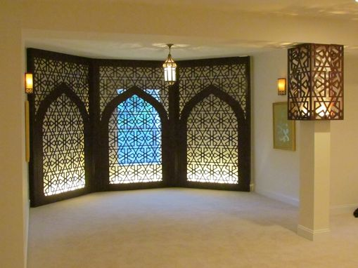 Handmade prayer room decorative wall panels and lighted pillar by prayer room decorative wall panels and lighted pillar aloadofball Gallery