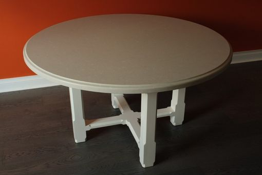 Custom Made Stone Top Round Dining Table