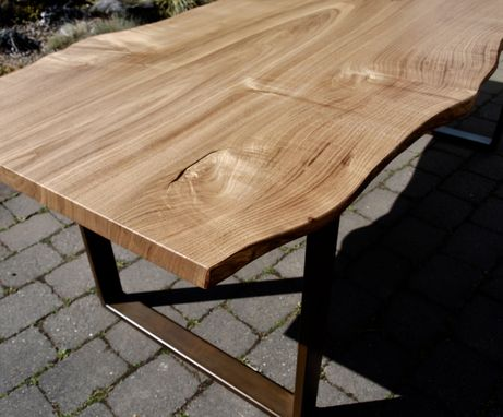 Custom Made Live Edge Chestnut Table