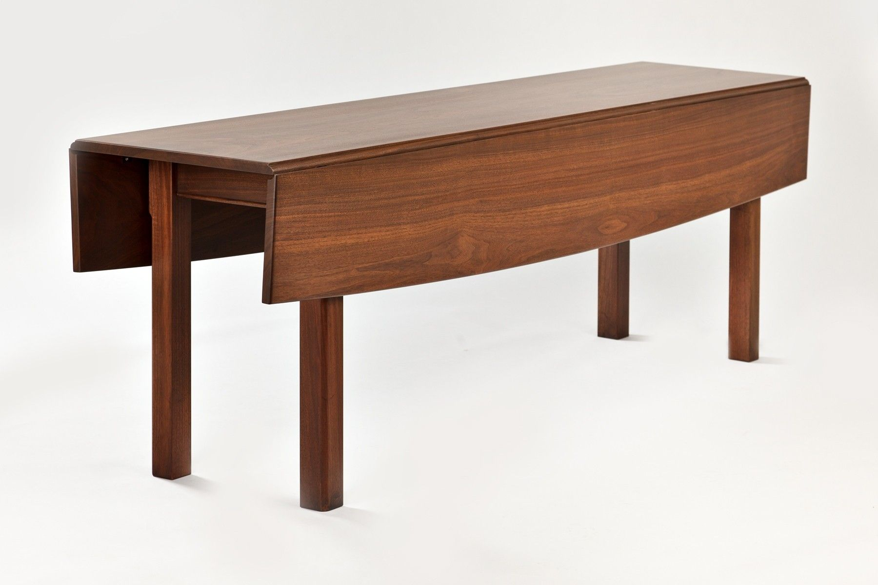 Hand Crafted Walnut Drop Leaf Dining Tabel by Downing Fine  : 6015185561 from www.custommade.com size 1800 x 1200 jpeg 122kB