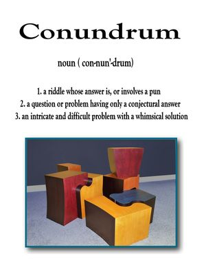 "Custom Made ""Conundrum"" Multi-Function Table Set"