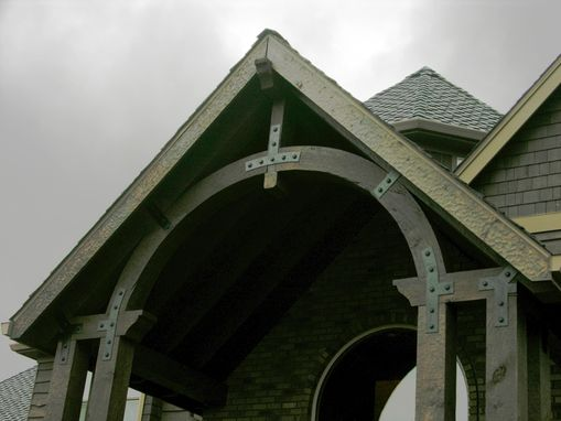 Custom Made Timber Frame Trusses With Iron Truss Plates