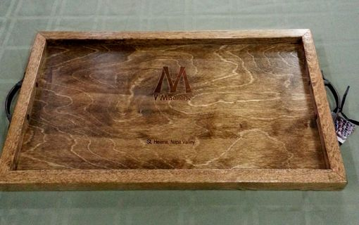 Custom Made V Madrone Tray