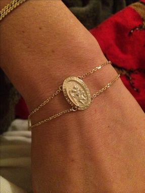 Custom Made Saint Christopher Bracelet With Engraving