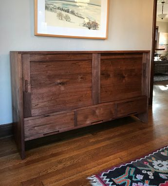 Custom Made Shaker Sideboard In Walnut And Ash.