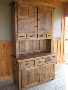 Custom Made Reclaimed Chestnut Hutches/Cupboards
