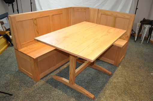 Custom Made Oak Breakfast Nook / Banquette