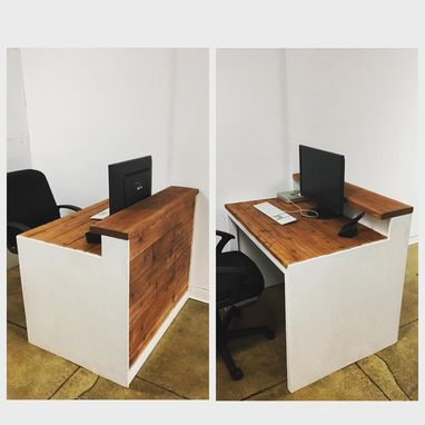 Custom Made Rustic Meets Contemporary Desk