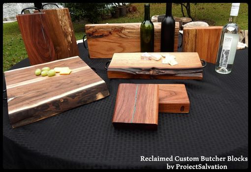 Custom Made Butcher Block / Cutting Board / Reclaimed Wood Butcher Block