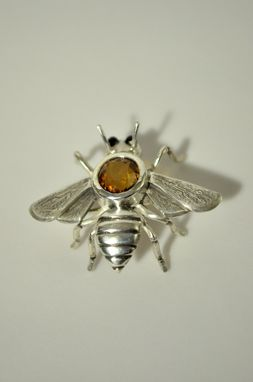 Custom Made Sterling Silver Bee Pin