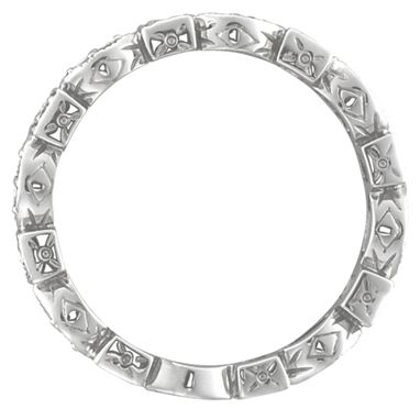 Custom Made Antique Style Diamond Eternity Ring Band