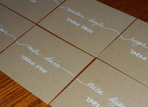 Custom Made Wedding Place Cards