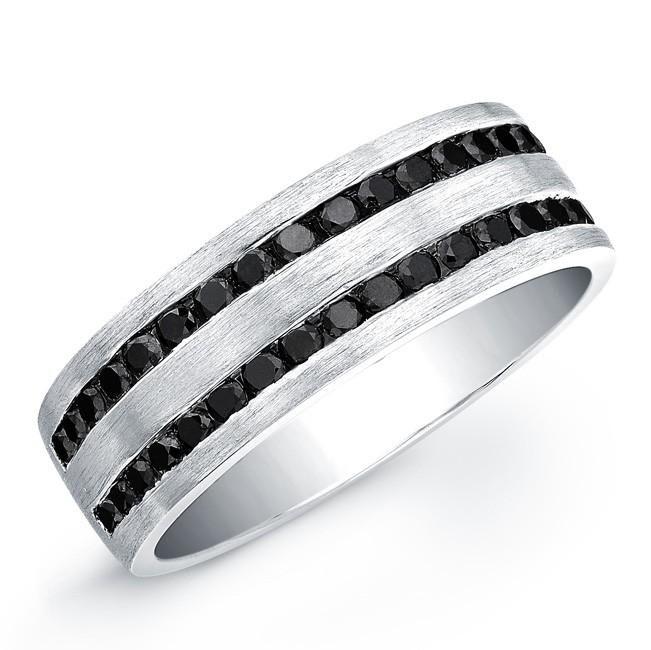 unique stock of black diamond mens ring