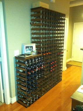 Custom Made Rustic/Industrial Wine Rack