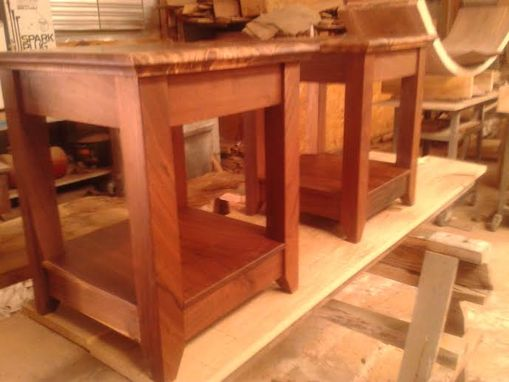 Custom Made Solid Highly Figured Black Walnut End Tables
