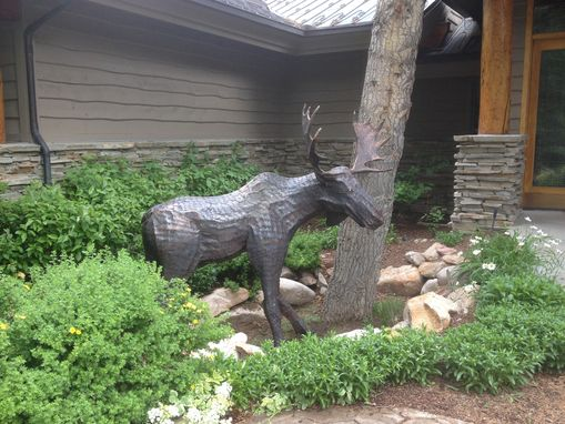 Custom Made 8 Ft Tall Moose Sculpture, Full Body.
