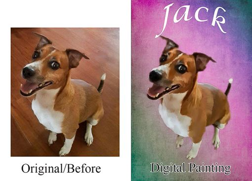 Custom Made Custom Pet Dog Portrait Painting