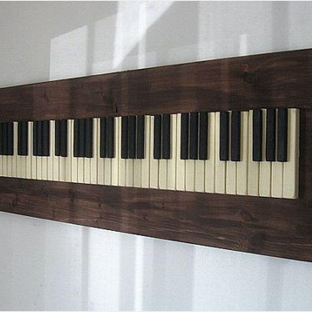 Hand Crafted Repurposed Piano Key Wall Art by PIANOBOX | CustomMade.com