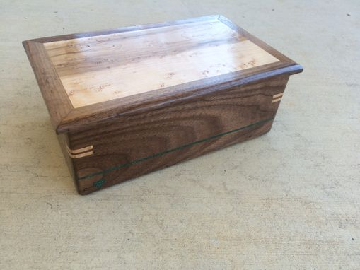 Custom Made Walnut And Birdseye Maple Jewelry Box