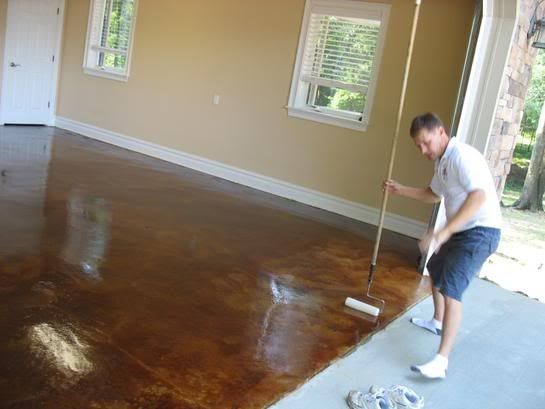 Custom Made Acid Stained Concrete Projects By Glamour