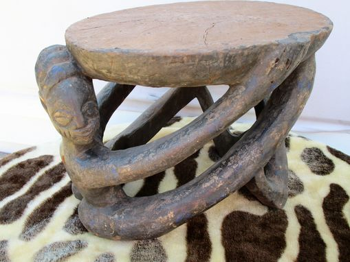 Custom Made Hand Carved Kids Stool